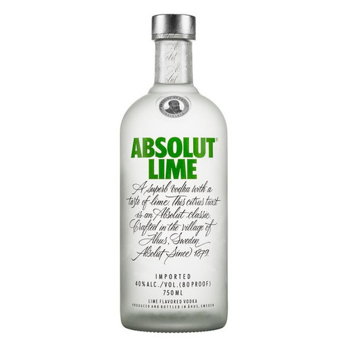 Absolut Lime Flavored Vodka 750mL
