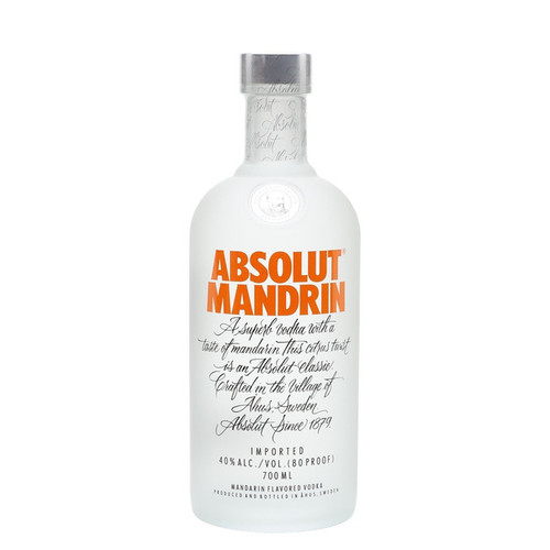 Absolut Mandrin Flavored Vodka 750mL