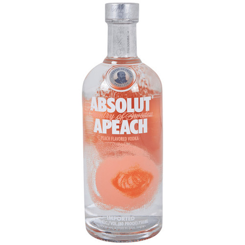 Absolut Apeach Peach Flavored Vodka 750mL