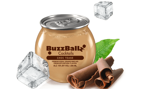 BuzzBallz Cocktails Choc Tease Flavored Vodka 200mL