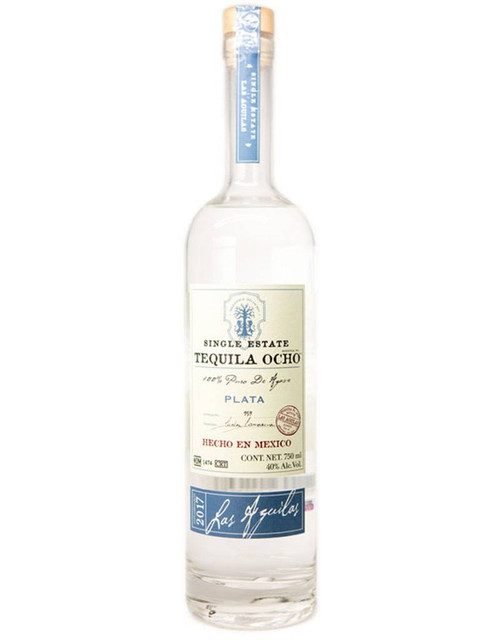 Tequila Ocho Plata Single Estate Las Aguilas 2017 750mL
