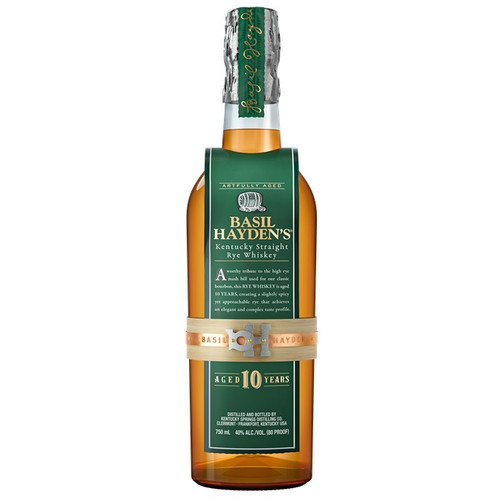 Basil Hayden's 10 Year Kentucky Straight Rye Whiskey 750mL