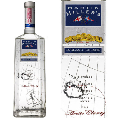 Martin Miller's London Dry Gin 750mLMartin Miller's Original Gin, is pot distilled using two separate distillations. This imparts a unique balance of citrus and juniper. Blended to a bottling strength of 40% ABV using Icelandic Spring Water.