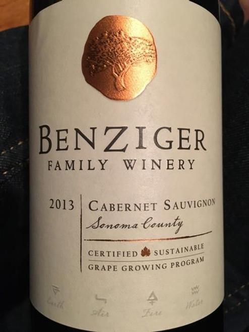 Benzinger Family WInery 2013 Sonoma Cabernet Sauvignon 750mL