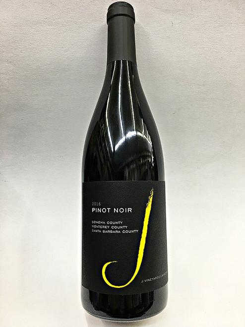 J Vineyards & Winery 2016 Sonoma County Monterey County Santa Barbara County Pinot Noir 750mL