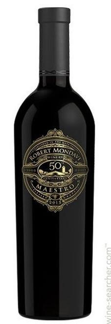 Robert Mondavi Winery 2013 50th Anniversary Maestro Napa Valley Red Wine 750mL