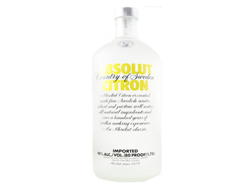 Absolut Citron Flavored Vodka 1.75L