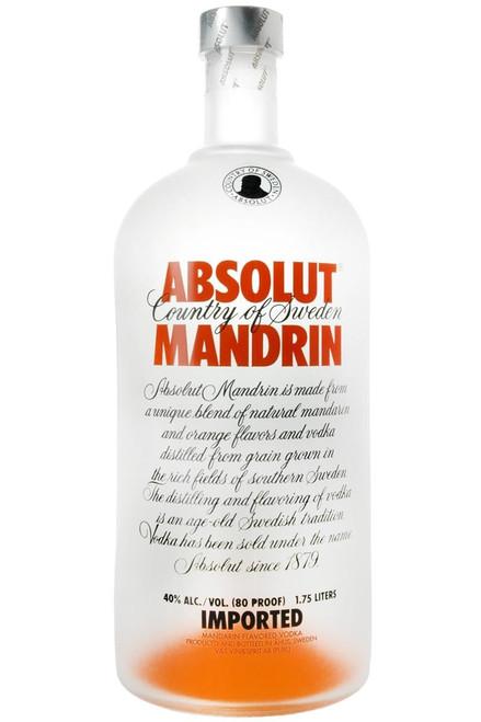 Absolut Mandrin Flavored Vodka 1.75L
