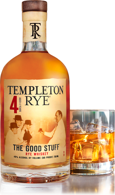 Templeton 4 Year The Good Stuff Rye Whiskey 750mL