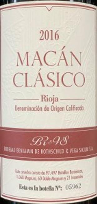 Bodegas Benjamin de Rothschild Vega Sicilia - 2016 Macán Clásico Rioja 750mL