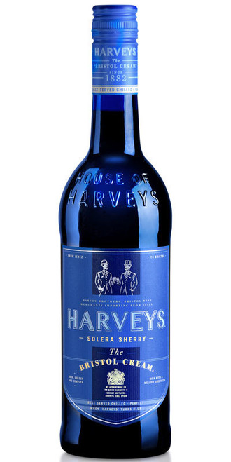 Harveys Bristol Cream Blue Label Sherry 750mL