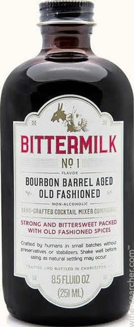 Bittermilk #1 Bourbon Barrel Aged Old Fashioned Cocktail 8.5oz