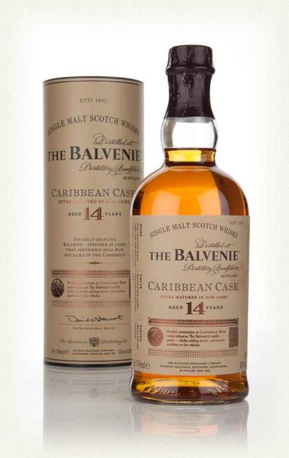 The Balvenie 14 Year Caribbean Cask Single Malt Scotch Whisky 750mL