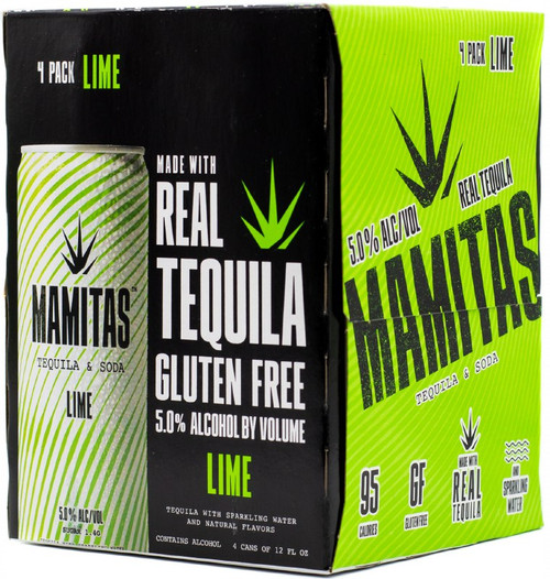 Mamitas Lime Tequila and Soda 4pk 12 fl oz