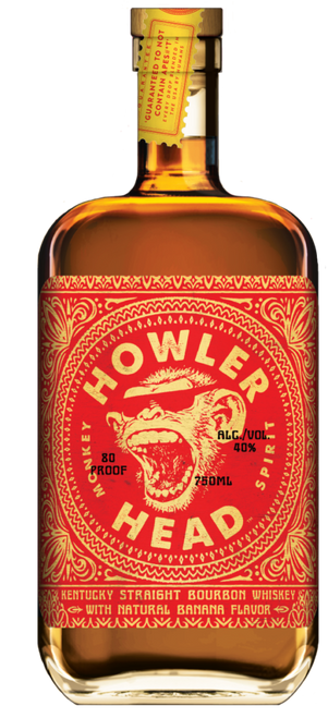 Howler Head Monkey Spirit Banana Flavored Kentucky Straight Bourbon Whiskey 750mL