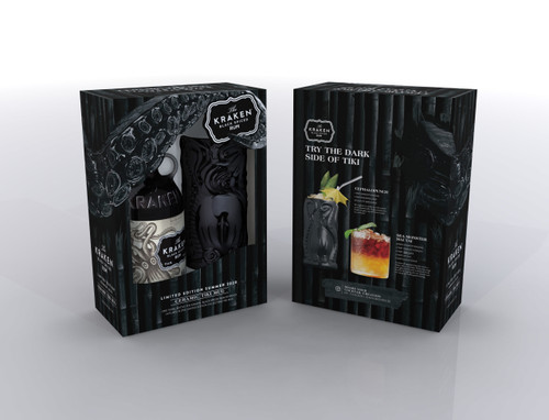 The Kraken Black Spiced Rum 750mL w/ Limited Edition Ceramic Tiki Mug