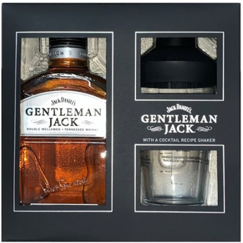 Jack Daniel's Gentleman Jack Tennessee Whiskey 750mL w/Cocktail Recipe Shaker