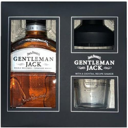 Jack Daniel's Gentleman Jack Double Mellowed Tennessee Whiskey 750mL w/Cocktail Recipe Shaker