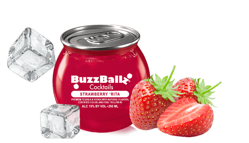BuzzBallz Cocktails Strawberry Rita 200mL