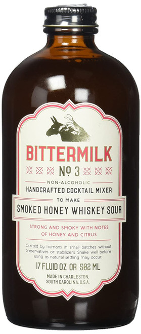 Bittermilk #3 Smoked Honey Whiskey Sour Cocktail Mixer 17oz