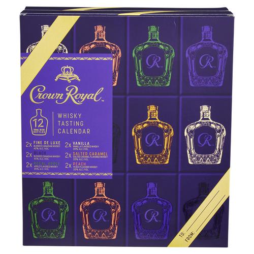 Crown Royal Whisky Tasting Calendar 12/50mL Gift Pack