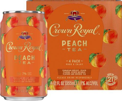 Crown Royal Peach Tea 12oz 4pk