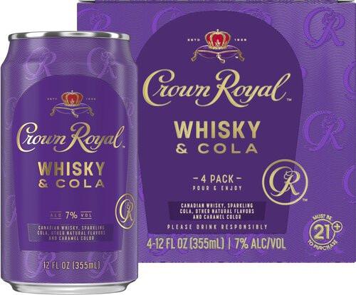 Crown Royal Whisky & Cola 12oz 4pk