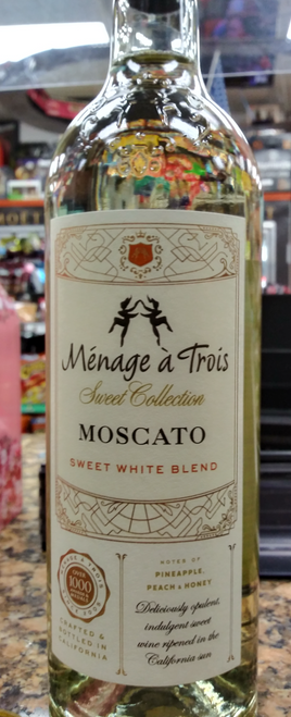 Ménage à Trois Sweet Collection Moscato Sweet White Blend 750mL