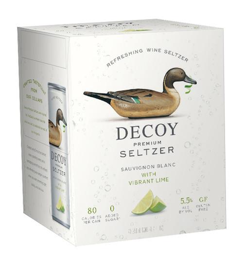 Decoy Premium Seltzer Sauvignon Blanc with Vibrant Lime 4pk