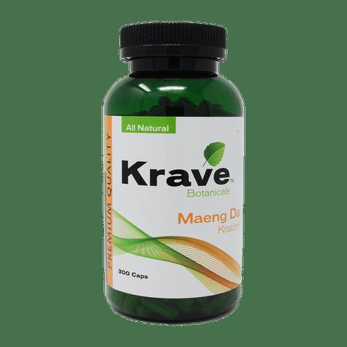 Krave Botanicals Maeng Da Kratom All Natural 300 Capsules