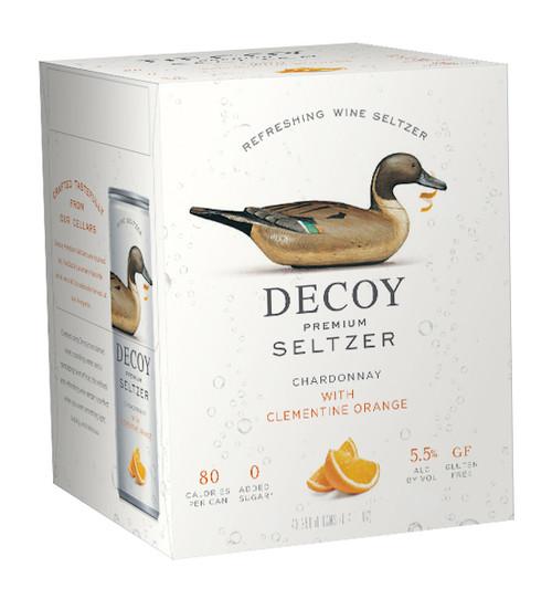 Decoy Premium Seltzer Chardonnay with Clementine Orange 4pk