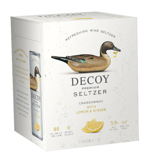 Decoy Premium Seltzer Chardonnay with Lemon & Ginger 4pk