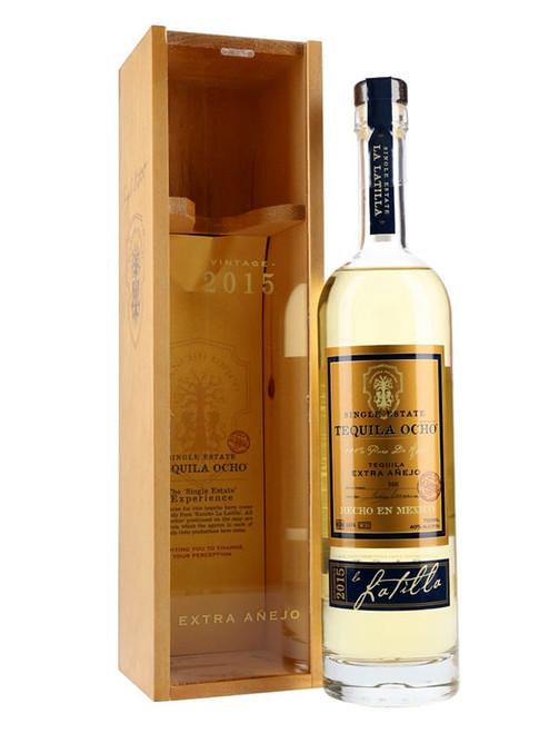 Tequila Ocho Extra Añejo Single Estate La Latilla Vintage 2015 750mL