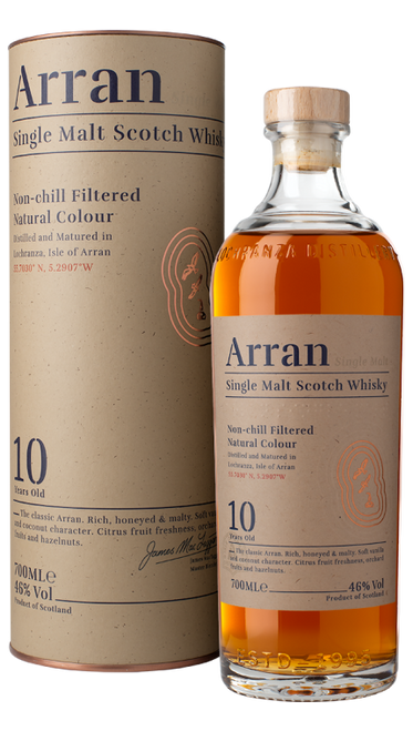 The Arran 10 Year Single Malt Scotch Whisky 750mL