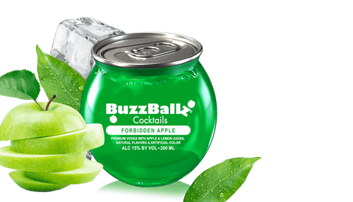 BuzzBallz Cocktails Forbidden Apple Flavored Vodka 200mL