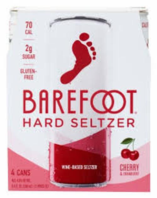 Barefoot Hard Seltzer Cherry & Cranberry 8.4 fl oz 4pk
