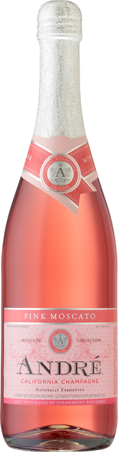 André Pink Moscato California Champagne 750mL