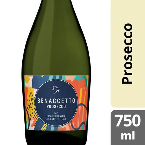 Benaccetto Prosecco D.O.C. Brut Italian Sparkling Wine 750mL