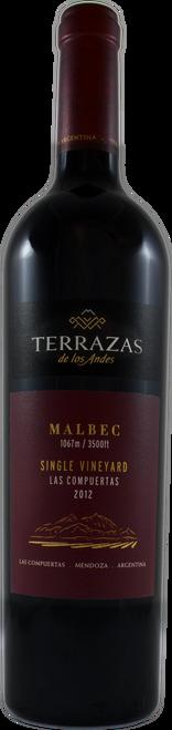 Terrazas de los Andes 2012 Single Vineyard Las Compuertas Malbec 750mL