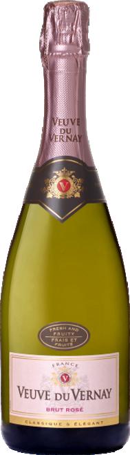 Veuve du Vernay Brut Rosé French Sparkling Wine 750mL