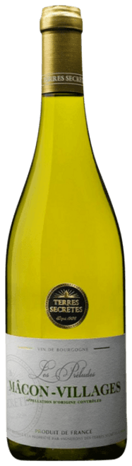 Terres Secrètes Mâcon-Villages 2015 100% French Chardonnay 750mL
