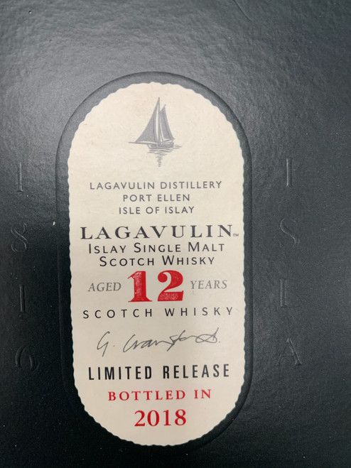 Lagavulin 12 Year Old Limited Release Bottled in 2018 Islay Single Malt Scotch Whisky 750mL