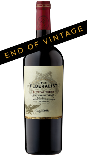 The Federalist 2014 Dueling Pistols Dry Creek Valley Zinfandel & Syrah Blend 750mL