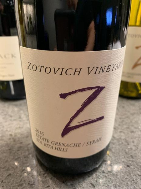 Zotovich Vineyards 2016 Sta. Rita Hills Estate Grenache / Syrah 750mL