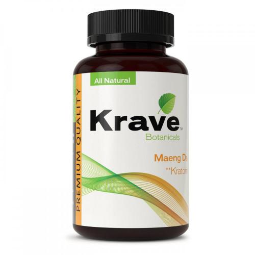 Krave Botanicals Maeng Da Kratom All Natural 500 Capsules