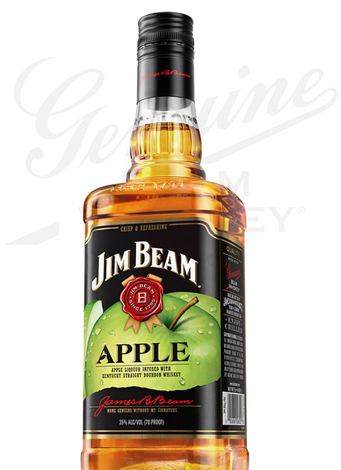 Jim Beam Apple Liqueur Infused with Kentucky Straight Bourbon Whiskey 750mL