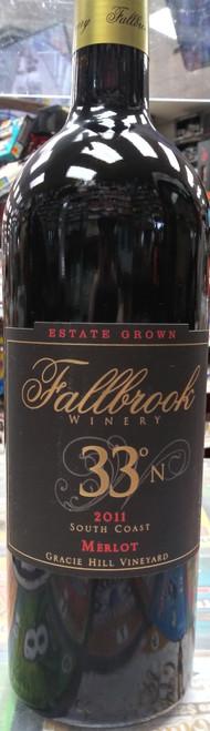 Fallbrook Winery 33° N 2011 South Coast Gracie Hill Vineyard Merlot 750mL