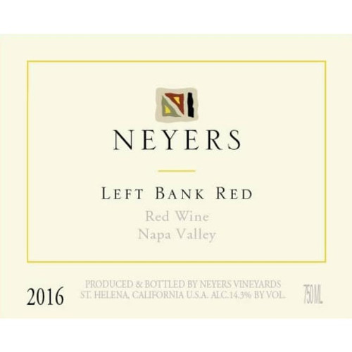 Neyers Left Bank Red 2016 Napa Valley Red Wine 750mL