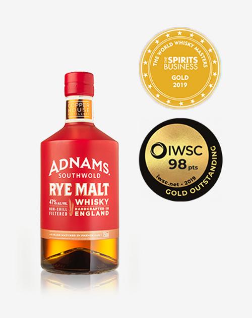 Adnams Southwold Rye Malt English Whisky 750mL