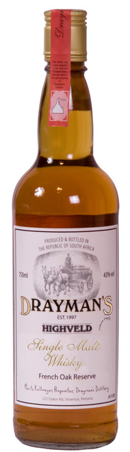 Draymans Highveld Single Malt South African Whisky 750mL